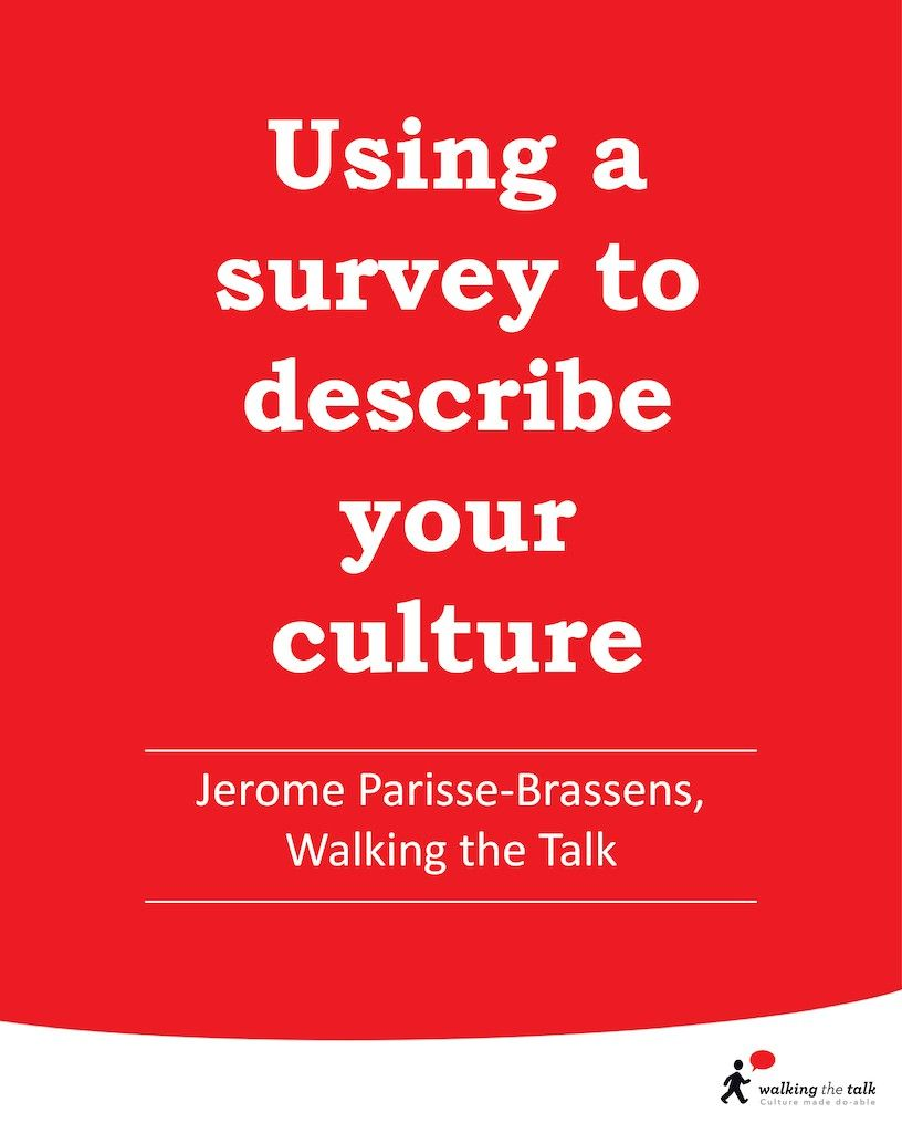 Using a survey to describe your culture