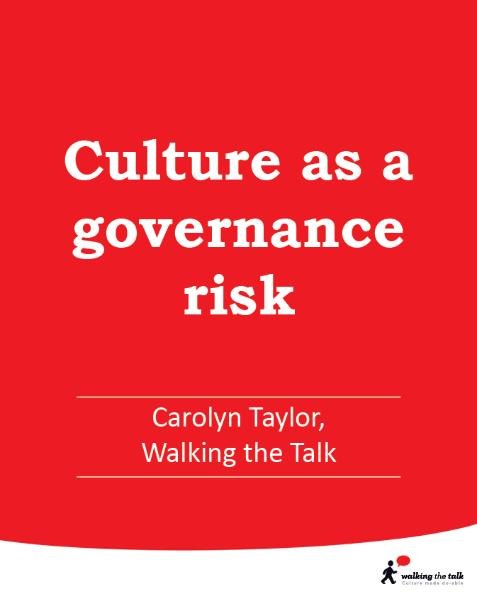 Culture as a governance risk video
