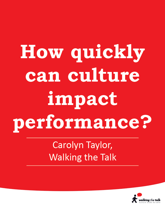 Culture's impact on performance
