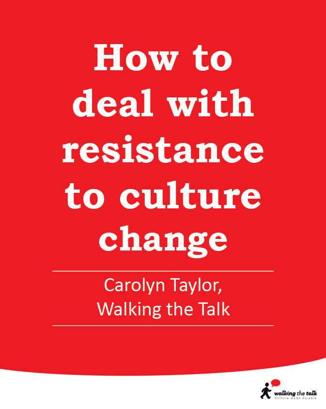 Resistance to culture change video