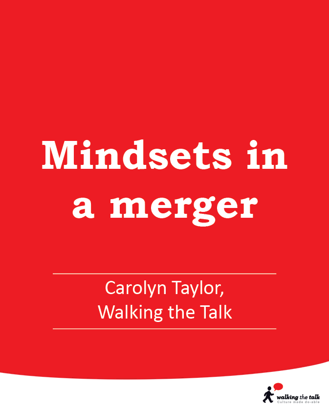 Mindsets in a merger