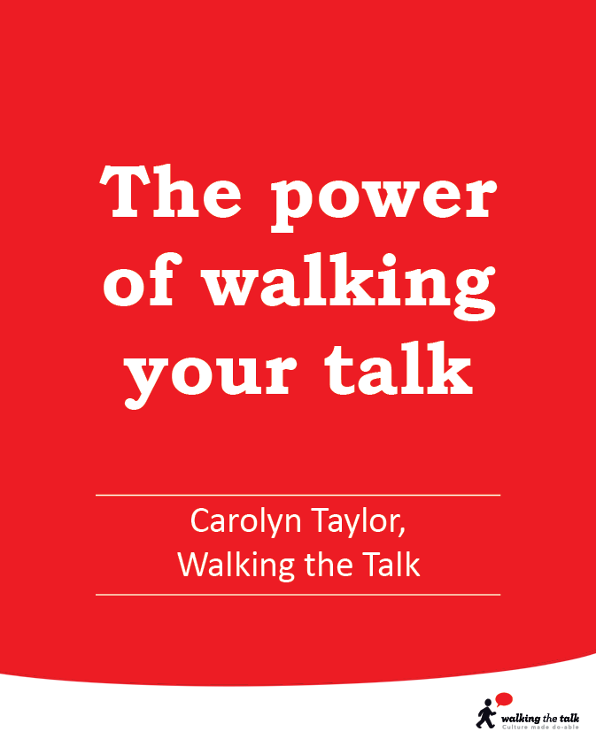 The power of Walking the Talk