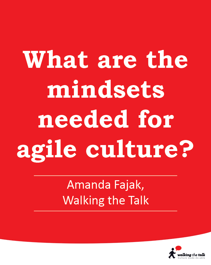 What are the mindsets needed for agile culture