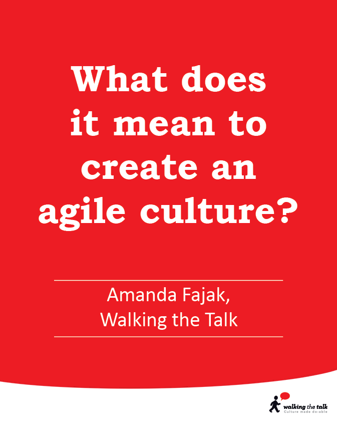 What does it mean to create an agile culture