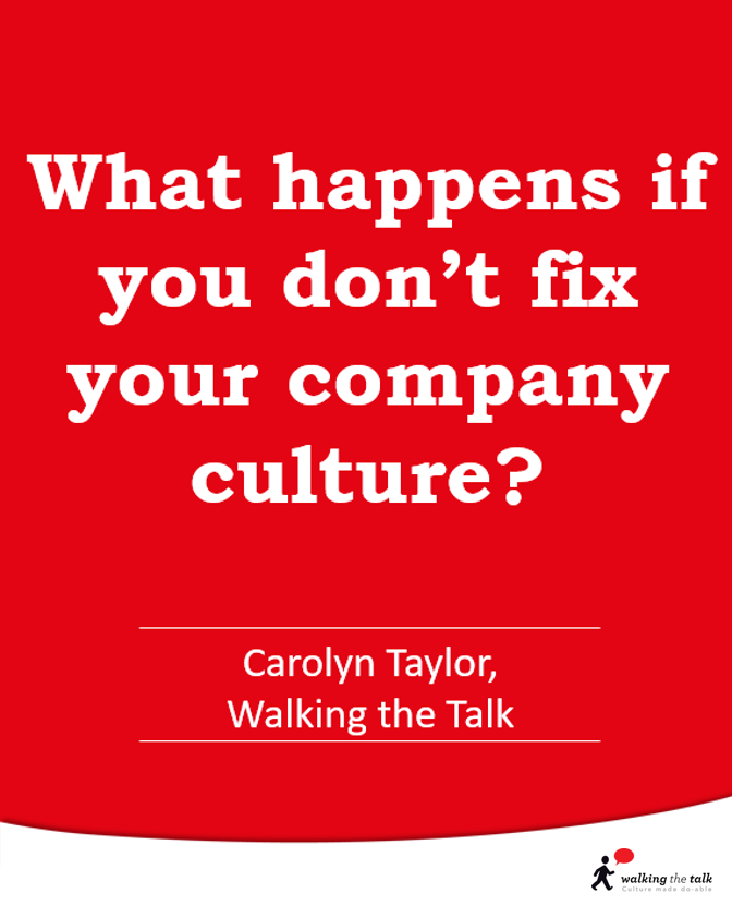 What happens if you don't fix your culture?