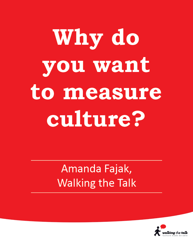 Why do you want to measure culture? video
