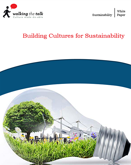 Building cultures for sustainability