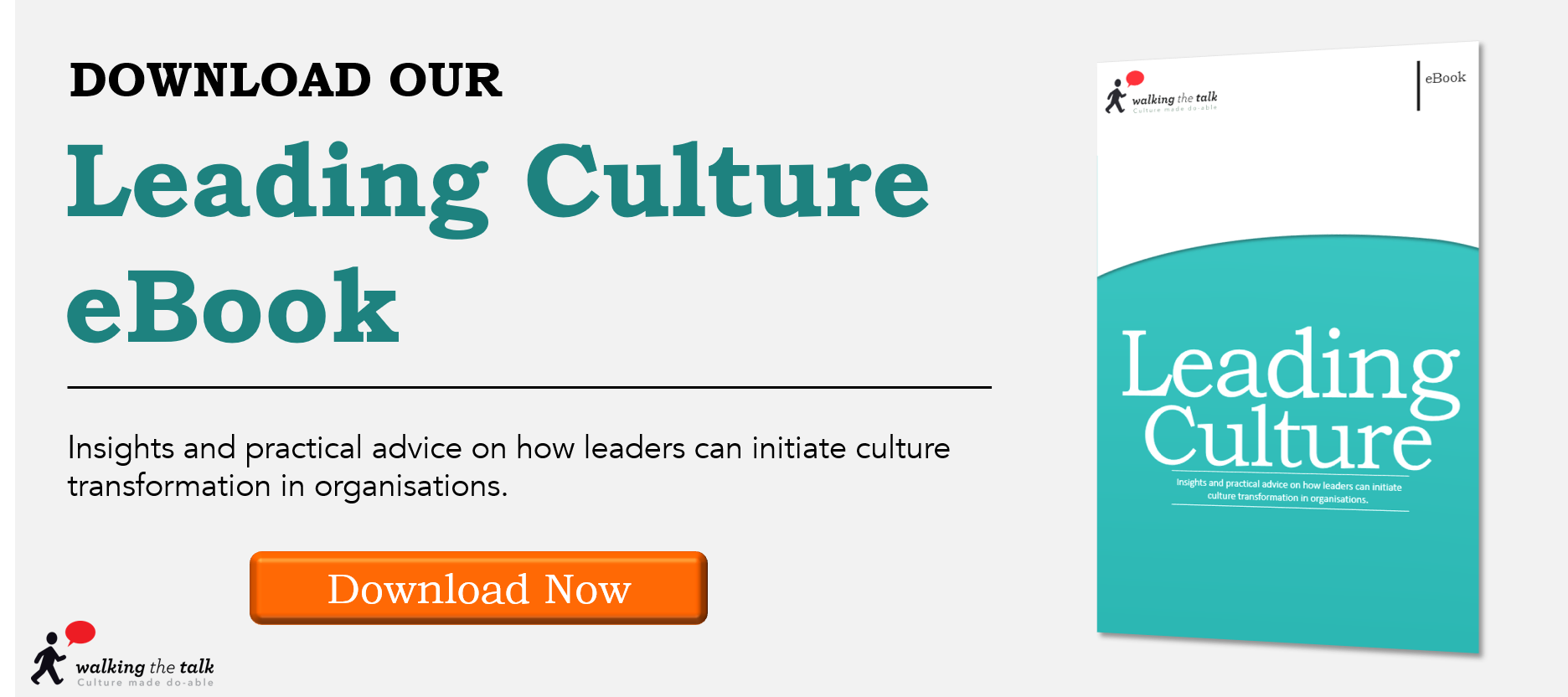 How can you lead your organisation's culture